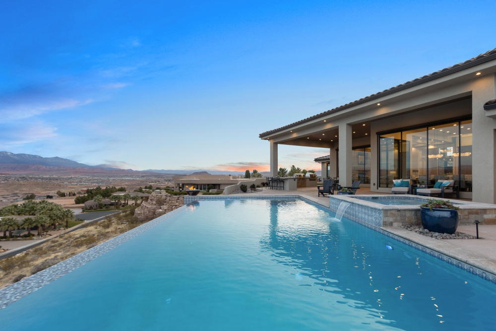 Anderson Custom Homes, Paradise Home Design, Infinity pool