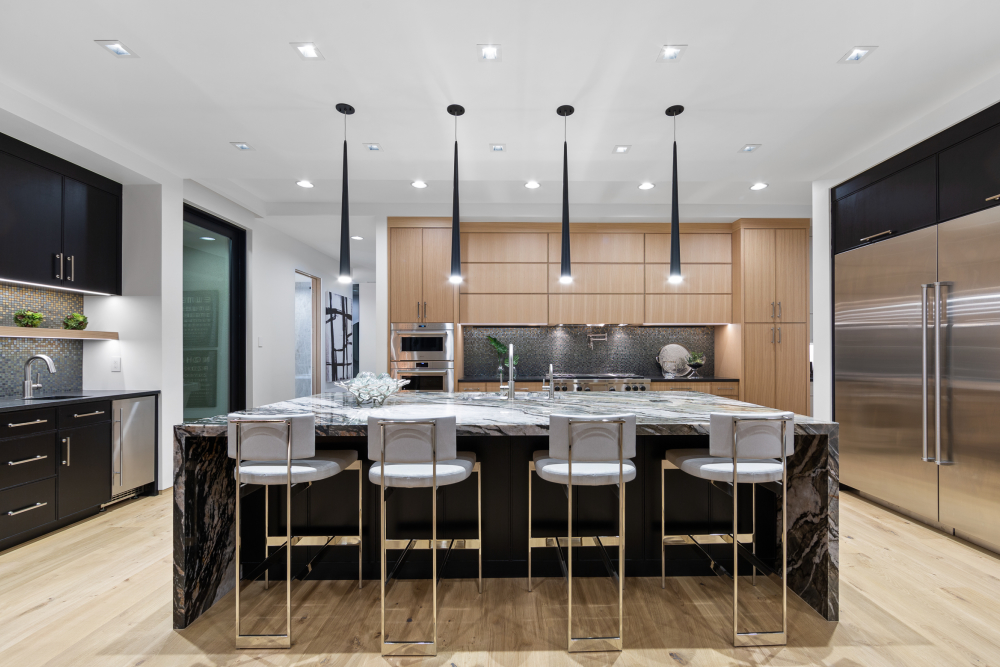 Modern kitchen at the 2021 St. George Area Parade of Homes