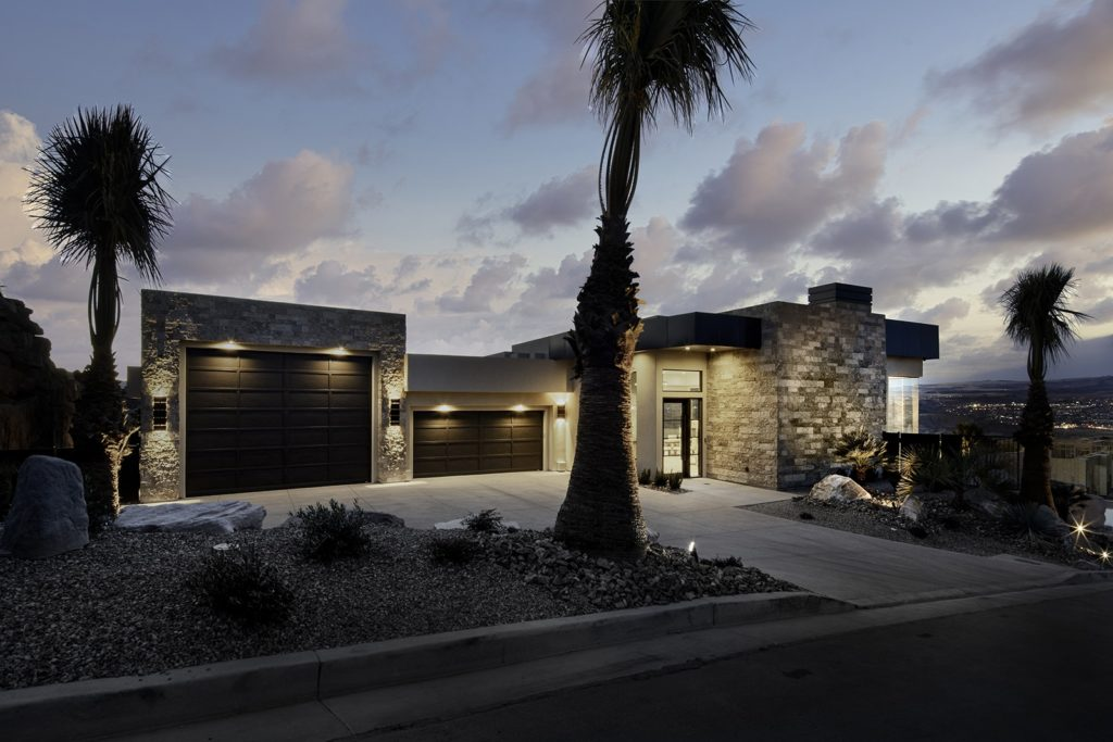 St. George home exterior by Anderson Custom Homes