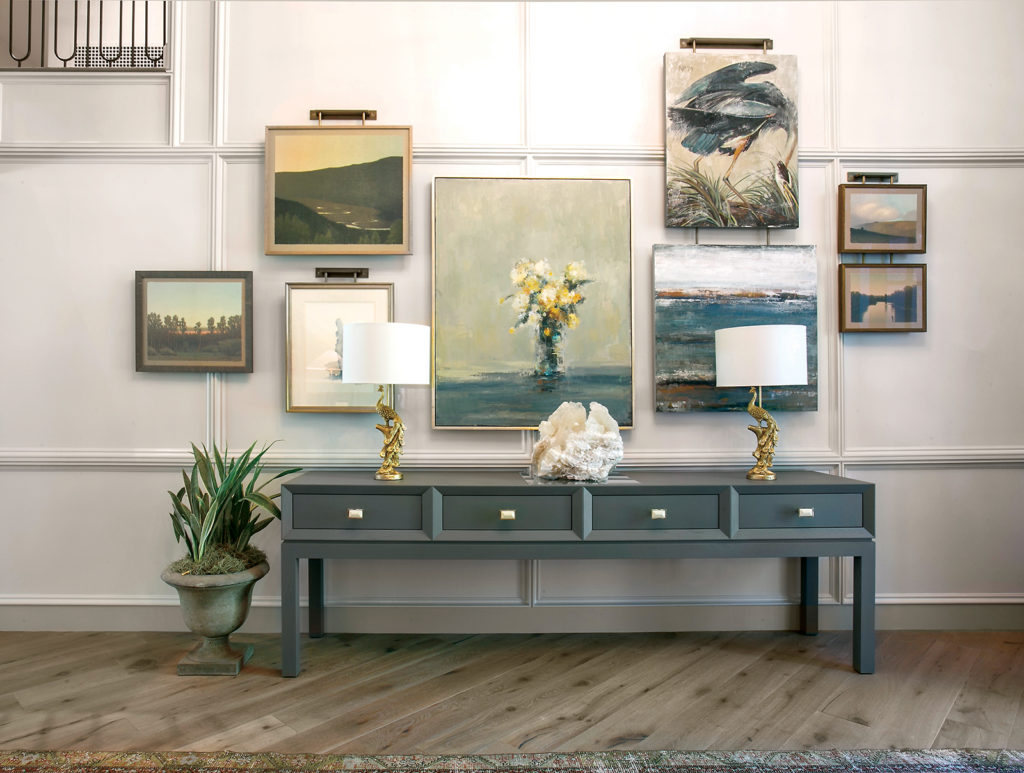 This holladay forever home features a curated gallery.