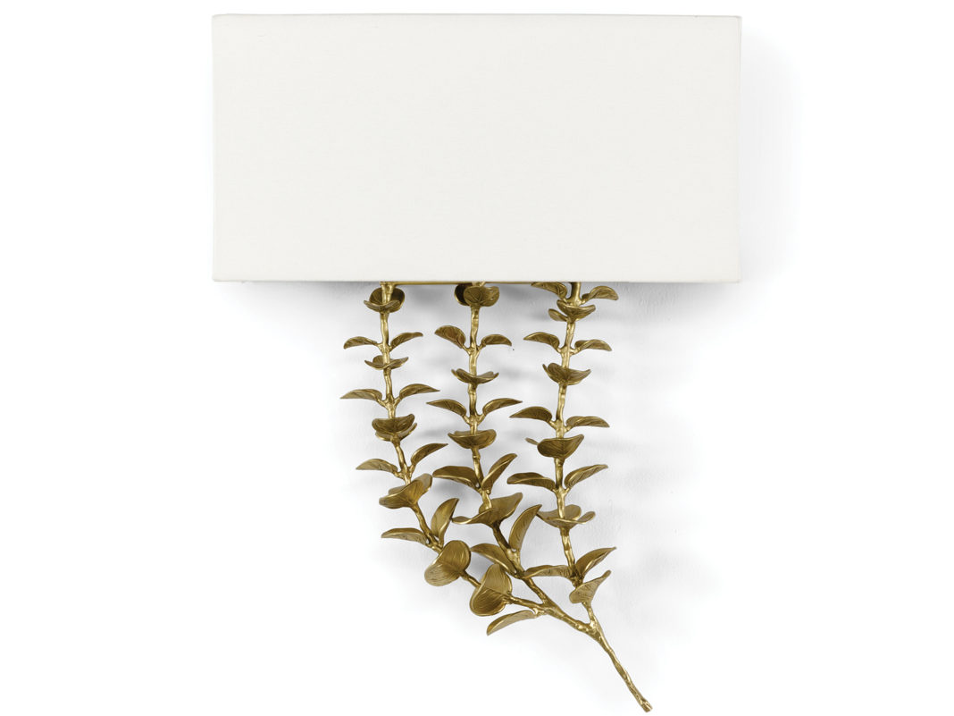 Eucalyptus Brass Shaded Sconces