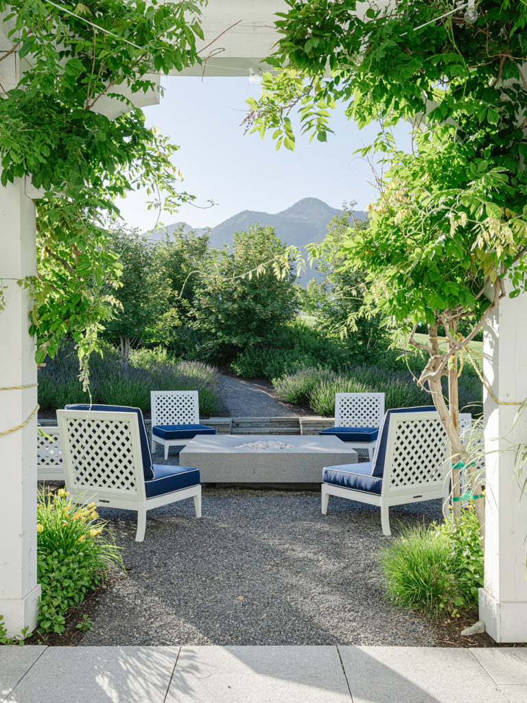 Outdoor firepit designed by Hillary Taylor Interiors